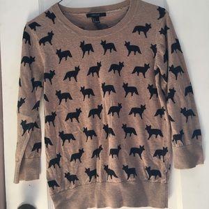 Soft fox print sweater